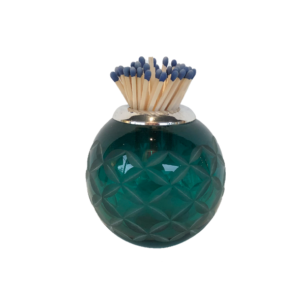 Small Matchstriker - Teal Lattice - oomph Gift Guide