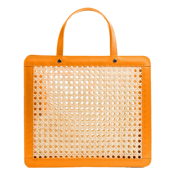 Palmgrens Rattan Top Handle Classic - Orange - oomph Gift Guide