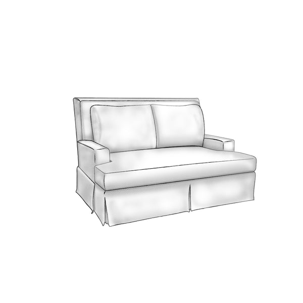 Greenwich Love Seat - complete-pillows