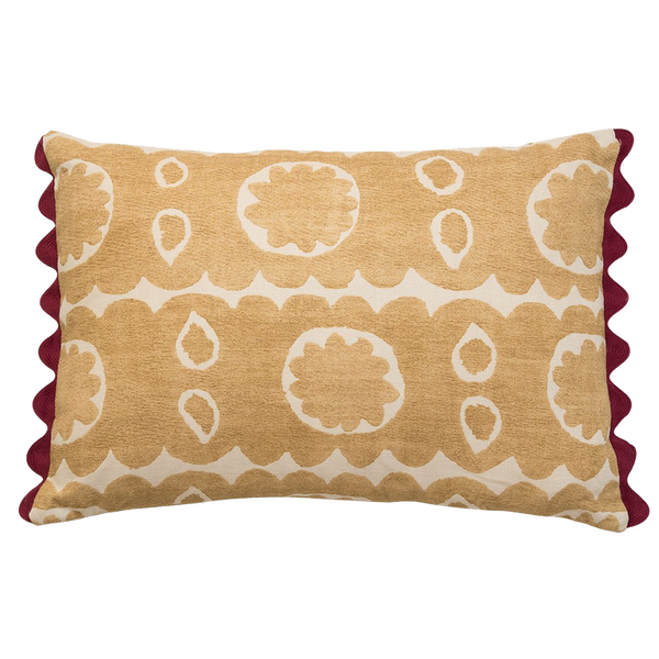 Osborne Oblong Pillow- Yellow - Greenwich Shop