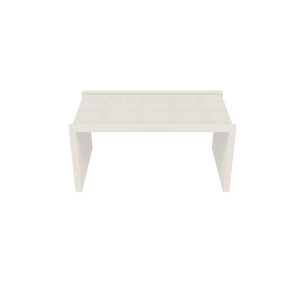 Harbour Island Coffee Table - White Dove with Painted Raffia - Quicker Ship