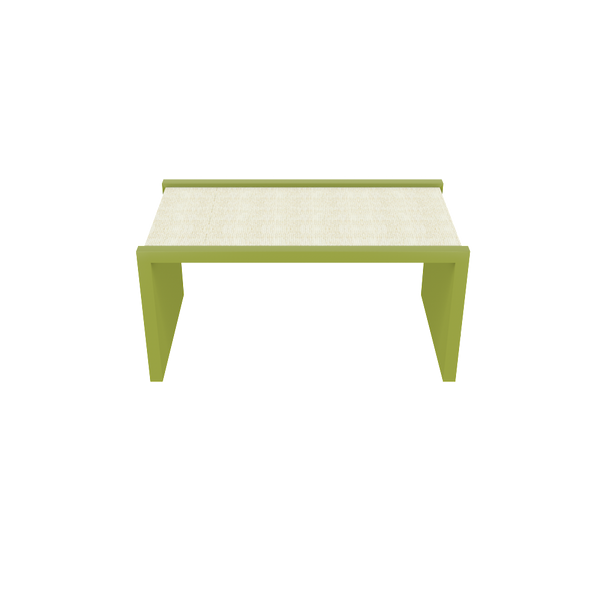 Harbour Island Coffee Table - Parakeet with White Washed Raffia - Quicker Ship