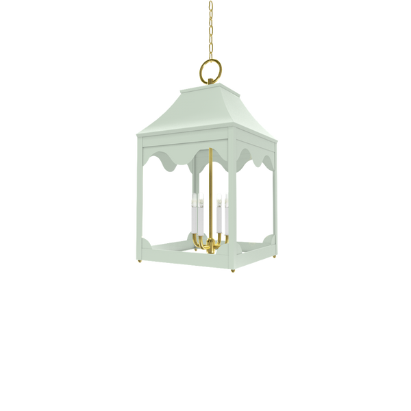 Hobe Sound Lantern Brass - Ceiling Lighting
