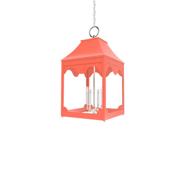 Hobe Sound Lantern Nickel - Ceiling Lighting