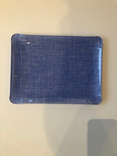 Nina Campbell Solid Fabric Tray - Blue