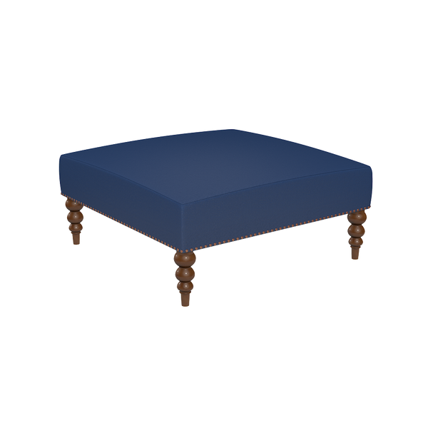 Chatham Linen Ottoman - complete-Edgartown-Square-Tray