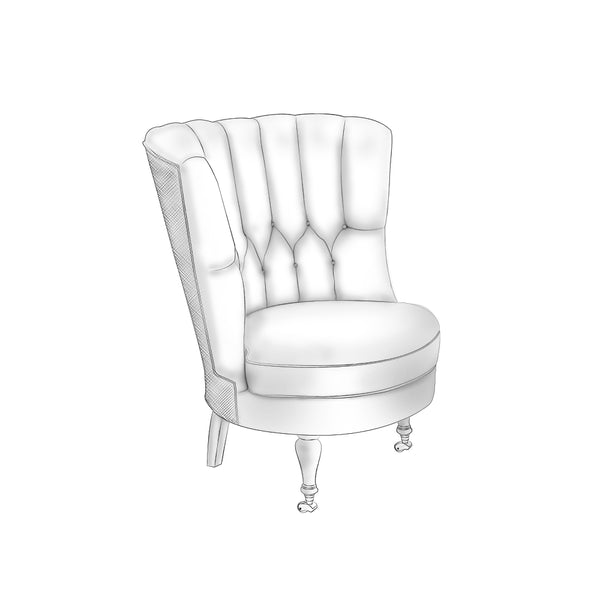 Lyford Wing Chair - complete-pillows