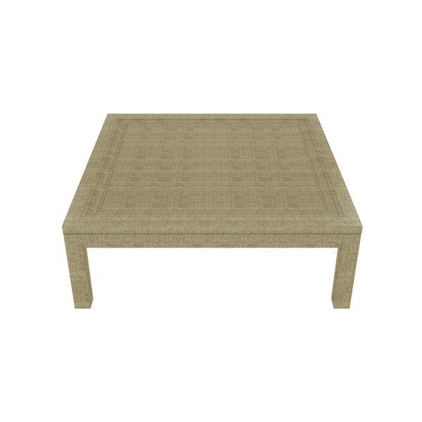 Malibu 52 Wrapped Coffee Table- Natural - Quick Ship