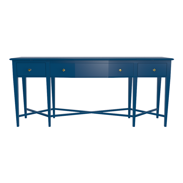 Manhattan Stretch Console - Club Navy - Manhattan Stretch and Greenwich Lamp Entryway