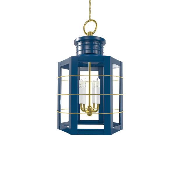 Nantucket Lantern Large- NY Blue - Quicker Ship