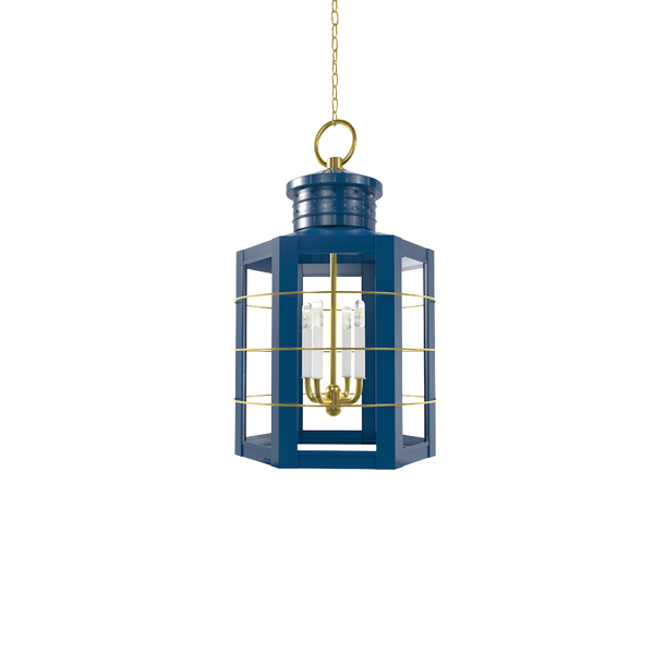 Nantucket Lantern with Brass - Ceiling Lighting