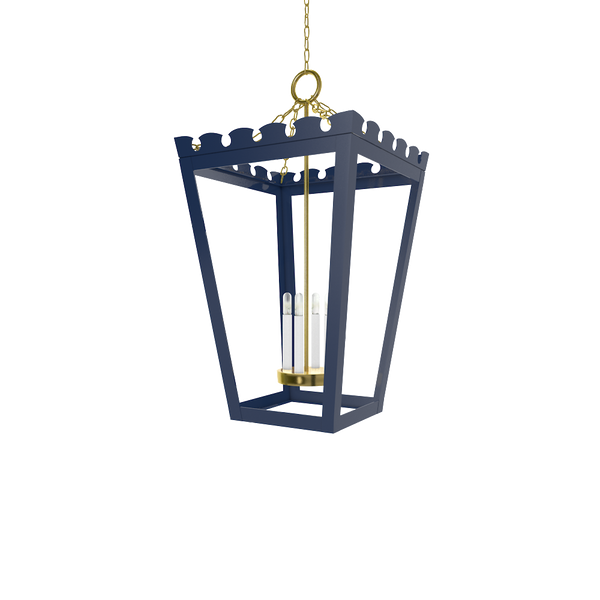 Newport Lantern Brass - Wall, Table & Ceiling Lighting
