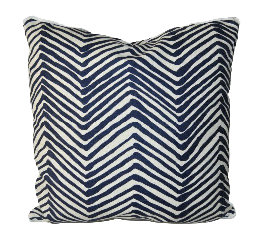 Zig Zag Grande Navy - Throw Pillows