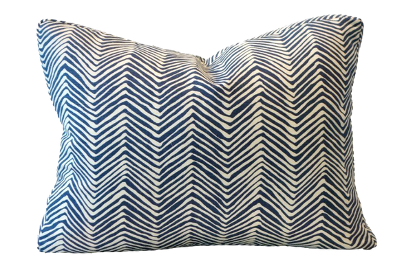Zig Zag Navy Tini - Throw Pillows
