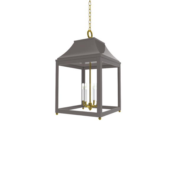 Palo Alto Lantern Brass - Wall, Table & Ceiling Lighting