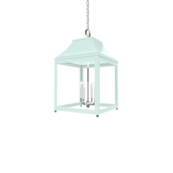 Palo Alto Lantern Nickel - Ceiling Lighting