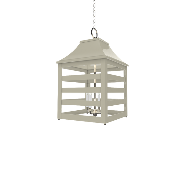 Saybrook Lantern Nickel - Wall, Table & Ceiling Lighting
