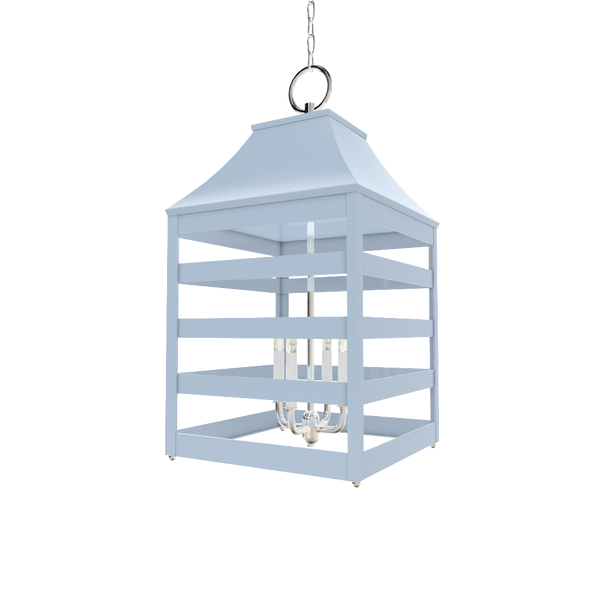 Saybrook XL Lantern with Nickel - Ceiling Lighting