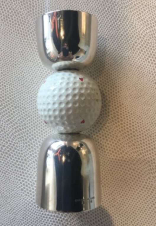 Silver plated golf drinks measure c.1950s - Wedding Gift Guide