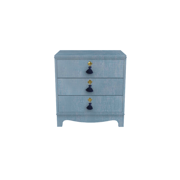Tini Easton Nightstand Denim Blue Finish - Tables