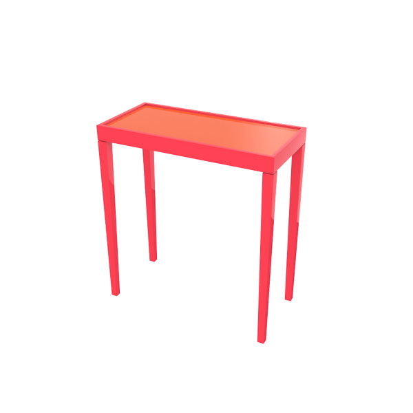 Tini III Painted Glass - Eros Pink and Knockout Orange - complete-X-Bench