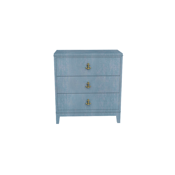 Tini Neverland Nightstand Denim Blue Finish - Denim Finish Collection