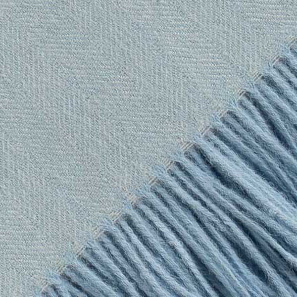 Alicia Adams Alpaca Throw  - Herringbone Ice Blue - Greenwich Shop