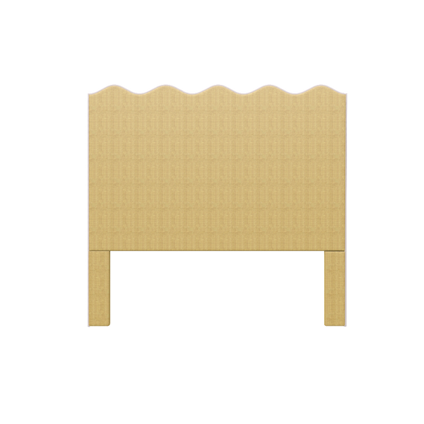 Wave Headboard in Natural Raffia - King - Headboards