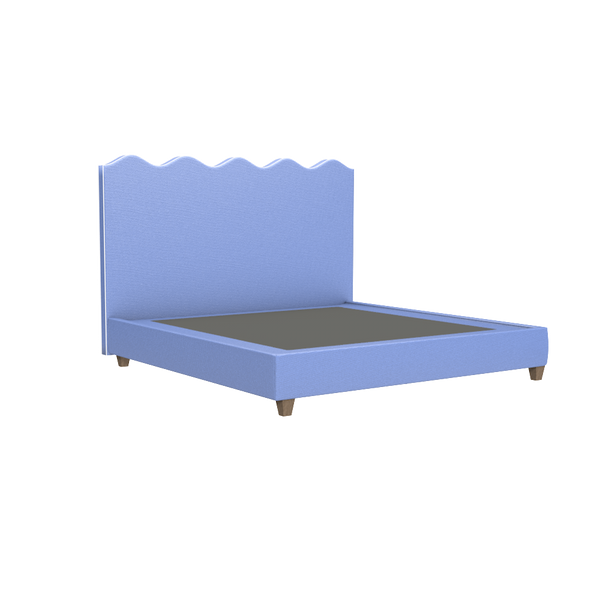 Wave Platform Bed - King - Beds & Headboards