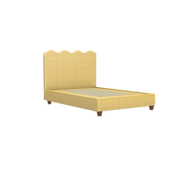 Wave Platform Bed in Natural Raffia - Queen - complete-easton-chest-large