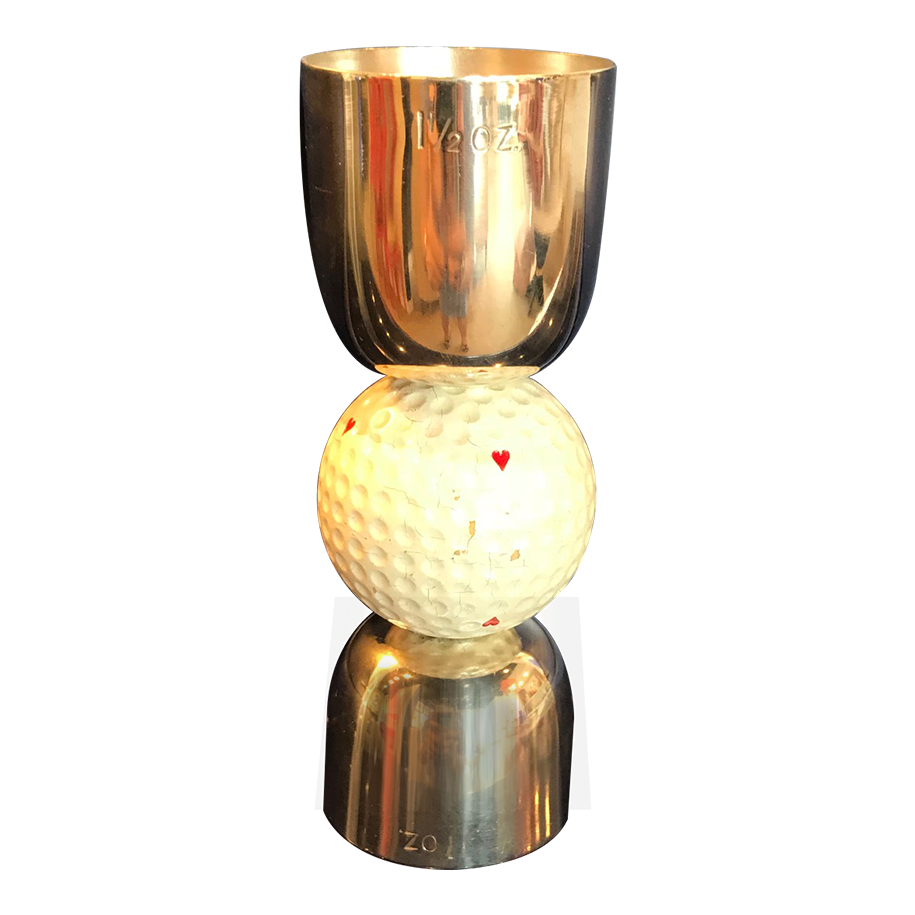 Silver plated golf drinks measure c.1950s
