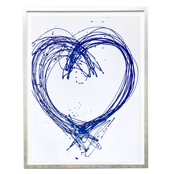Scott Hughes - Blue Heart on White - Home Décor Accessories