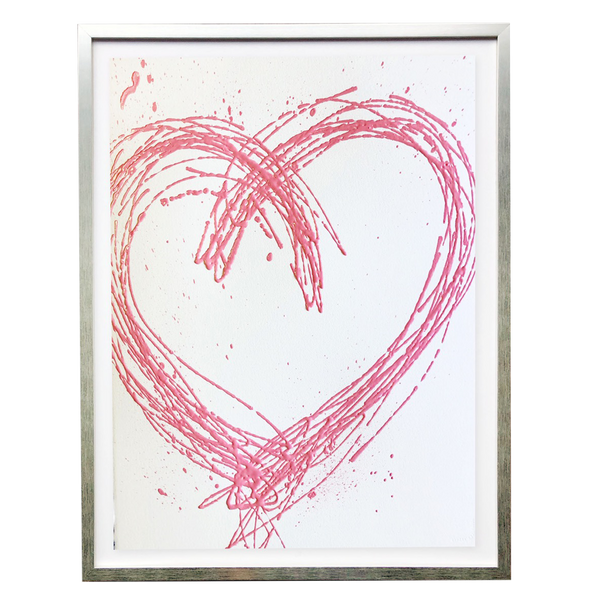 Scott Hughes - Pink Heart on White - Home Décor Accessories
