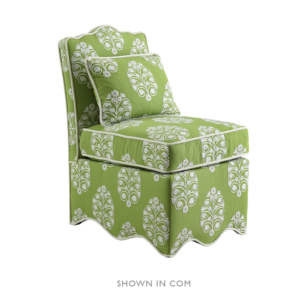 Upholstered Scallop Slipper Chair - Upholstered Chairs