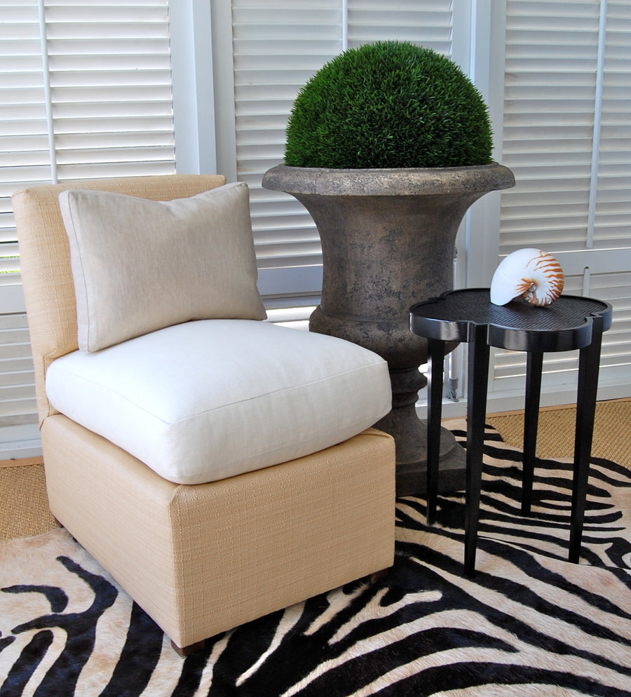 Raffia Slipper Chair