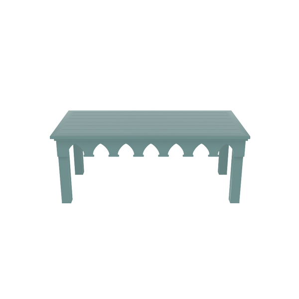 Ocean Drive Rectangle Coffee Table - Barbados Green - oomph Outdoor