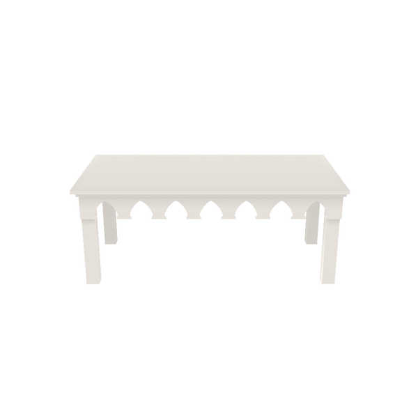Ocean Drive Rectangle Coffee Table - White - Quick Ship