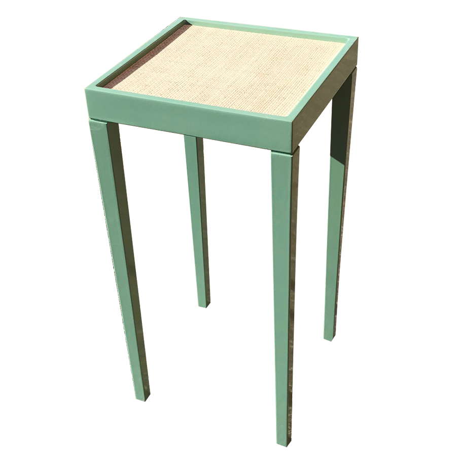 Tini I Table  Custom Color Southfield Green With Linen