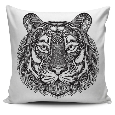 Ornate Animals Pillow Covers - White