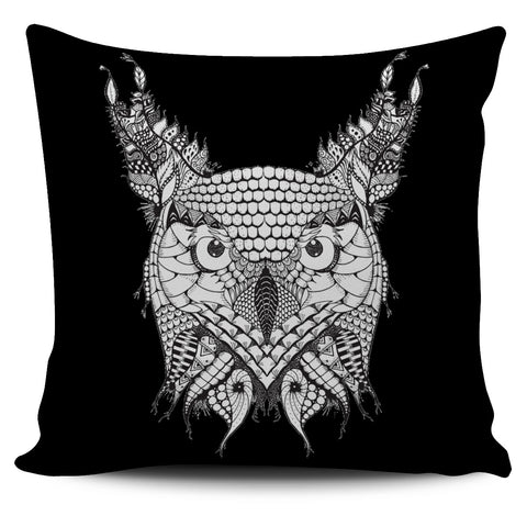 Ornate Animals Pillow Covers - Black
