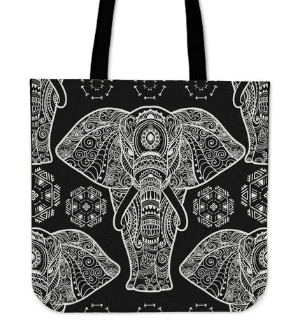 Majestic Elephant Linen Tote Bag