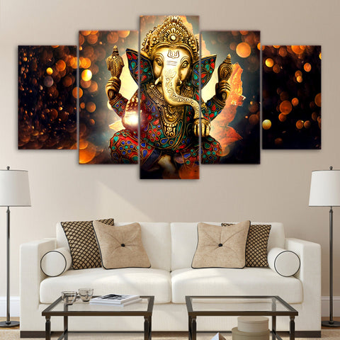 Beautiful Ganesha Elephant Panel Painting