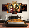 Image of Beautiful Ganesha Elephant Panel Painting