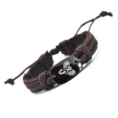 Elephant Charm Leather Bracelet