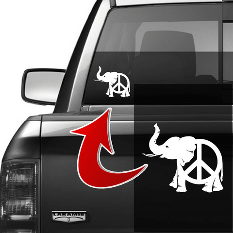 Peace Elephant Vinyl Decal