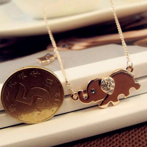 Mother & Baby Elephant Pendant Necklace