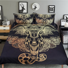 Tribal Elephant Duvet Bed Cover Set