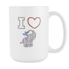 I Heart Elephants 15oz Coffee Mug