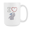 Image of I Heart Elephants 15oz Coffee Mug