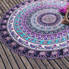 Image of Purple Elephant Mandala Blanket